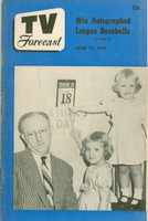 1950 TV Forecast June 17 Kay Kyser (32 pgs) Chicago edition Very Good to Excellent - No Mailing Label