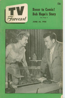 1950 TV Forecast June 24 Bob and Kay Chicago TV Personalties (36 pgs) Chicago edition Very Good to Excellent - No Mailing Label