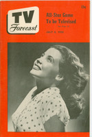 1950 TV Forecast July 8 Joan Barton (32 pgs) Chicago edition Excellent - No Mailing Label