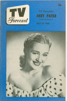 1950 TV Forecast July 29 Ginny Scott (32 pgs) Chicago edition Excellent - No Mailing Label