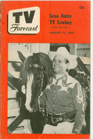1950 TV Forecast August 12 Gene Autry (32 pgs) Chicago edition Very Good - No Mailing Label