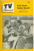 1950 TV Forecast August 19 Acrobat Ranch (32 pgs) Chicago edition Excellent - No Mailing Label
