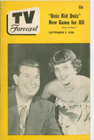 1950 TV Forecast September 9 Don McNeil (32 pgs) Chicago edition Excellent - No Mailing Label