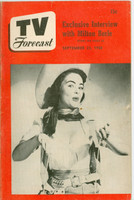 1950 TV Forecast September 23 Marlene Reilly (32 pgs) Chicago edition Very Good - No Mailing Label
