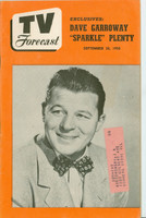 1950 TV Forecast September 30 Jack Carson (48 pgs) Chicago edition Excellent