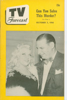 1950 TV Forecast October 7 Irv Kupcinet with Mae West (32 pgs) Chicago edition Excellent - No Mailing Label