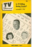 1950 TV Forecast November 4 Chicago Calendar (32 pgs) Chicago edition Very Good to Excellent