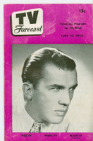 1950 TV Forecast Jun 10 Ed Sullivan (20 pages) New England edition Very Good  [Wear and scuffing on cover; contents fine]