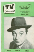 1950 TV Forecast Jul 1 Jack Haley (16 pages) New England edition Very Good  [Heavy vertical crease; contents fine]