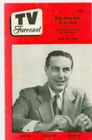 1950 TV Forecast Jul 22 Ted Mack (16 pages) New England edition Very Good  [Wear, scuffing and lt creasing on both covers; contents fine]
