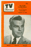 1950 TV Forecast Aug 12 Neil Hamilton (16 pages) New England edition Good to Very Good - No Mailing Label  [Heavy wear and staining on cover; contents fine]