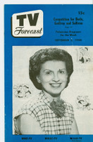 1950 TV Forecast Sep 2 Alice Jackson (16 pages) New England edition Very Good  [Wear, lt staining and creasing on both covers; contents fine]
