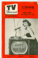 1950 TV Forecast Dec 30 TV Guide's 1950 Awards (20 pages - Listings Pgs are blank) New England edition Very Good  [12 pgs have contents; listings pages are printed blank]