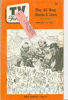 1951 TV Forecast January 13 Super Circus Clowns art: Martin and Lewis (40 pgs) Chicago edition Excellent