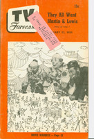1951 TV Forecast January 13 Super Circus Clowns art: Martin and Lewis (40 pgs) Chicago edition Very Good