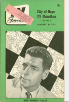 1951 TV Forecast January 20 Clifton Utley art: Frank Sinatra (40 pgs) Chicago edition Excellent
