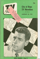 1951 TV Forecast January 20 Clifton Utley art: Frank Sinatra (40 pgs) Chicago edition Very Good to Excellent