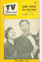1951 TV Forecast January 27 George Burns and Gracie Allen (40 pgs) Chicago edition Very Good - No Mailing Label