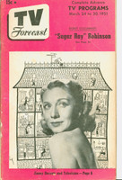 1951 TV Forecast March 24 Dorsey Connors (40 pgs) Chicago edition Very Good - No Mailing Label