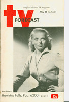 1951 TV Forecast May 26 Jean Mawry (48 pgs) Chicago edition Good to Very Good