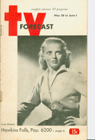 1951 TV Forecast May 26 Jean Mawry (48 pgs) Chicago edition Very Good - No Mailing Label