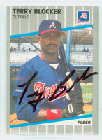 Terry Blocker AUTOGRAPH 1989 Fleer Braves 