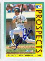 Scott Brosius AUTOGRAPH 1992 Fleer Athletics 