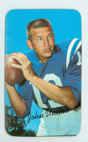 1970 Topps Football Supers 15 Johhny Unitas Baltimore Colts Excellent to Mint