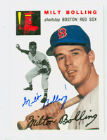 Milt Bolling AUTOGRAPH d.13 Topps 1954 Archives Red Sox   [SKU:BollM347_T54BBRP]