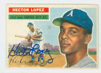 Hector Lopez AUTOGRAPH 1956 Topps #16 Athletics 