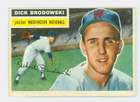 1956 Topps Baseball 157 Dick Brodowski