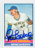 Pete Broberg AUTOGRAPH 1976 Topps #39 Brewers   [SKU:BrobP1004_T76BBCC]
