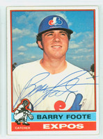 Barry Foote AUTOGRAPH 1976 Topps #42 Expos   [SKU:FootB4604_T76BBCC]