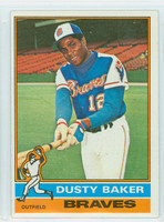 1976 Topps Baseball 28 Dusty Baker Atlanta Braves Excellent