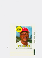 1969 Topps Decals 2 Richie Allen Philadelphia Phillies Excellent to Mint