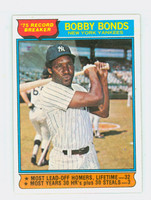 1976 Topps Baseball 2 Bobby Bonds HL New York Yankees Excellent to Mint