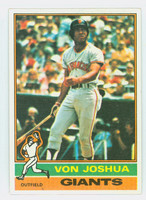 1976 Topps Baseball 82 Von Joshua San Francisco Giants Near-Mint to Mint
