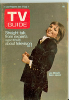1970 TV Guide June 27 Liza Minnelli Chicago edition Very Good to Excellent - No Mailing Label  [Heavy scuffing and lt creasing on cover; contents fine]