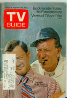 1971 TV Guide February 6 Tony Randall and Jack Klugman of the Odd Couple (First Cover) Oregon State edition Very Good  [Heavy scuffing and lt toning along binding; contents fine]
