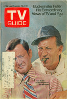1971 TV Guide February 6 Tony Randall and Jack Klugman of the Odd Couple (First Cover) Wisconson edition Good to Very Good  [Heavy tears at staples and tearing along binding, lt staining on cover]