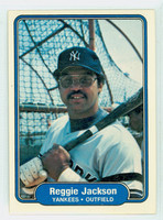 1982 Fleer Baseball 39 Reggie Jackson New York Yankees Near-Mint