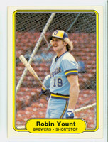 1982 Fleer Baseball 155 Robin Yount Milwaukee Brewers Near-Mint to Mint
