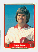 1982 Fleer Baseball 256 Pete Rose Philadelphia Phillies Near-Mint Plus