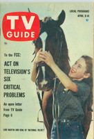 1961 TV Guide Apr 8 National Velvet Oregon State edition Very Good to Excellent - No Mailing Label  [Lt wear on cover, stray WRT in pencil; contents fine]