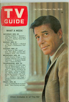 1965 TV Guide Nov 20 The FBI (First Cover) Western Illinois edition Very Good to Excellent - No Mailing Label  [Toning and lt creasing on cover; contents fine]