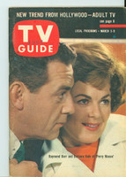 1962 TV Guide Mar 3 Perry Mason Kentucky edition Excellent to Mint - No Mailing Label  [Toning along binding; ow very clean]