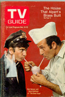 1968 TV Guide Nov 16 Cast of The Good Guys Louisiana edition Very Good  [Scuffing and wear on cover, label removed; contents fine]