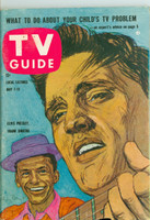 1960 TV Guide May 7 Elvis and Frank Sinatra Iowa edition Fair to Good - No Mailing Label  [Small portion of bottom pg torn away, minimal impact to contents]