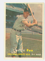 1957 Topps Baseball 38 Nellie Fox Chicago White Sox Excellent