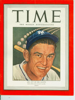 Time Magazine July 2, 1945 Mel Ott of the New York Giants Excellent to Mint [Very sharp, only lt wear on cover, ow very clean (94 pgs)]